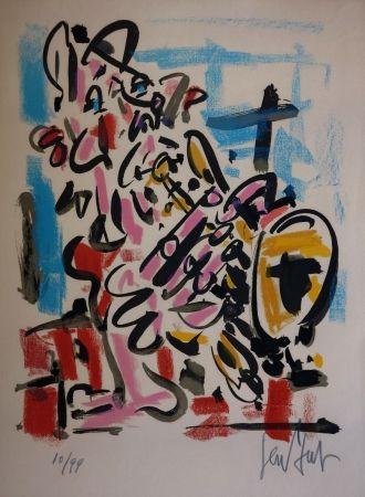 Lithographie Paul  - Le Saxophoniste / The Saxophonist