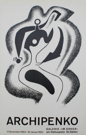 Lithographie Archipenko - Le sculpteur (The Sculptor)