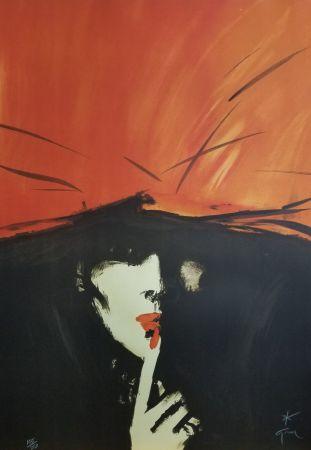 Lithographie Gruau - Le Secret