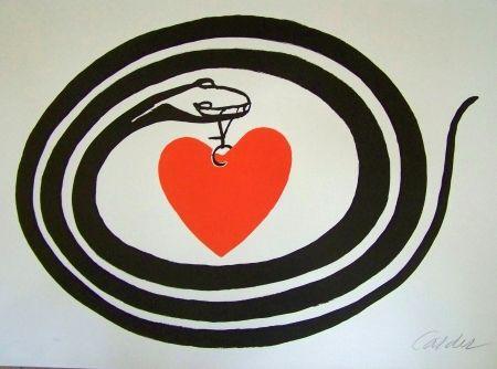 Lithographie Calder - Le serpent