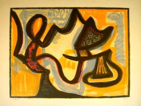 Lithographie Atlan - Le Simoun