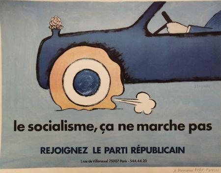 Lithographie Savignac - Le Socialisme, ça ne marche pas