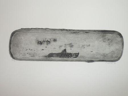 Eau-Forte Favier - Le sous marin France