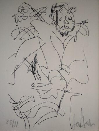 Lithographie Paul  - Le spectateur