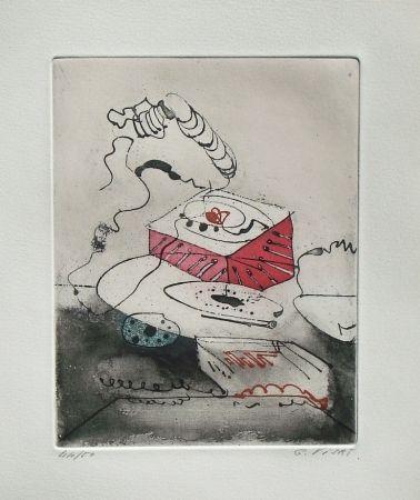 Eau-Forte Et Aquatinte Visat - Le Téléphon