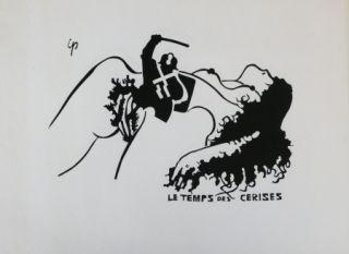 Lithographie Ipousteguy - Le temps des cerises -  mai 1968