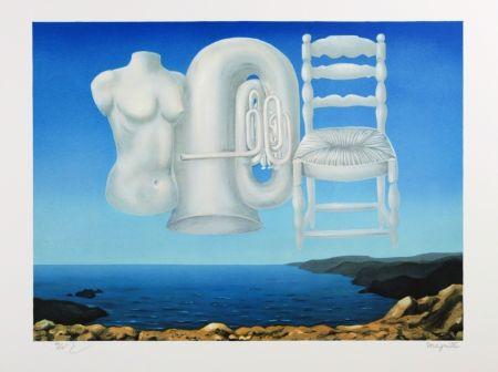 Lithographie Magritte - Le Temps Menaçant