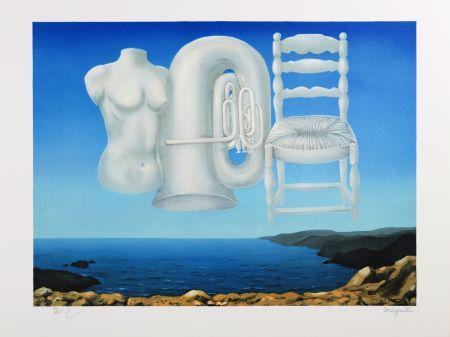 Lithographie Magritte - Le Temps Menaçant (Threatening Weather)