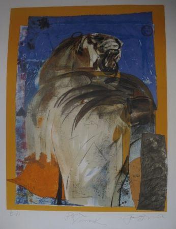 Lithographie Pomar - Le tigre