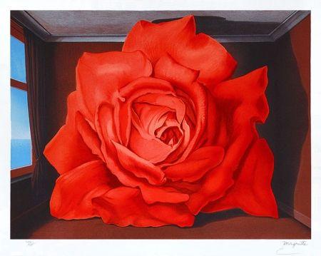 Lithographie Magritte - Le tombeau des lutteurs