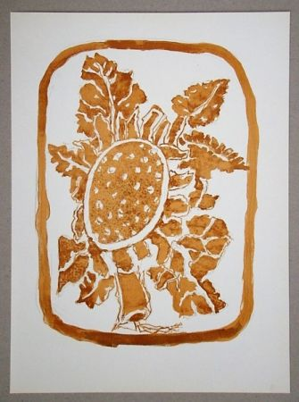 Lithographie Braque (After) - Le Tournesol