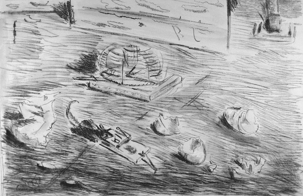 Lithographie De Pisis - Le trappole