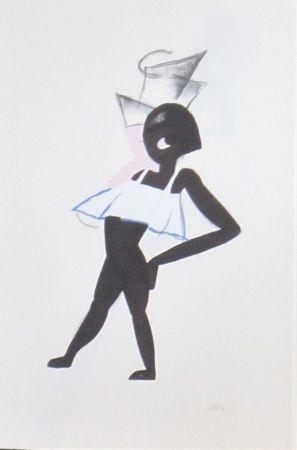 Lithographie Colin - Le tumulte noir 12