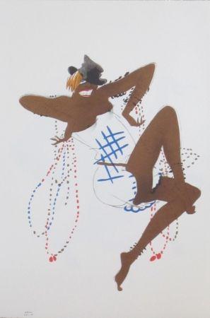Lithographie Colin - Le tumulte noir 18