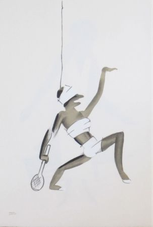 Lithographie Colin - Le tumulte noir 24