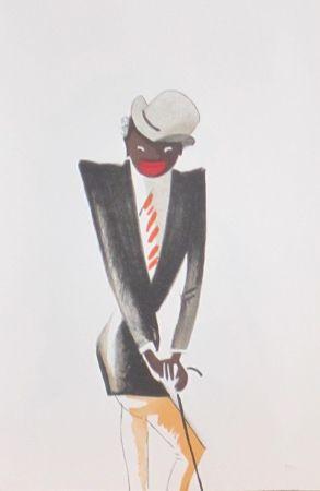 Lithographie Colin - Le tumulte noir 30