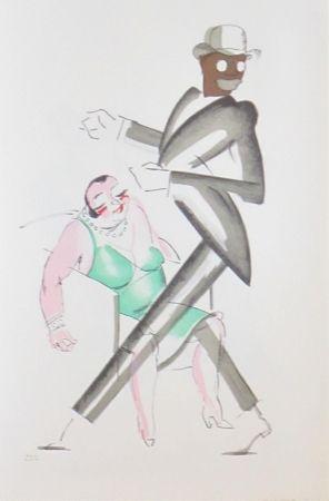 Lithographie Colin - Le tumulte noir 33