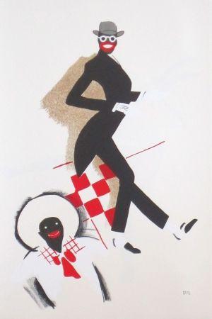 Lithographie Colin - Le tumulte noir 36