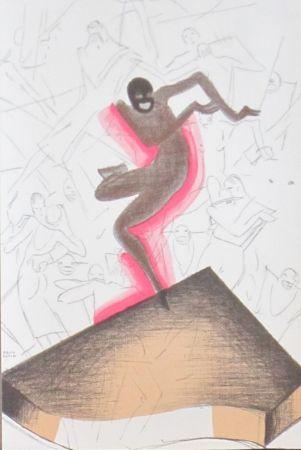 Lithographie Colin - Le tumulte noir 38