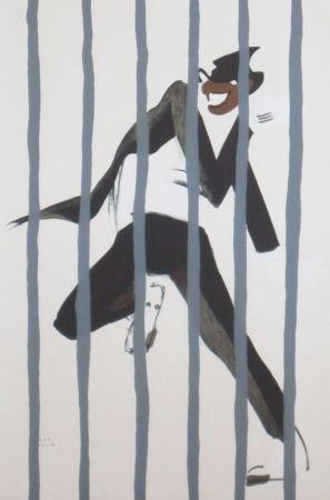 Lithographie Colin - Le tumulte noir 44