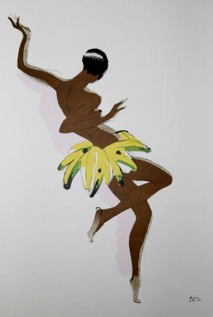 Lithographie Colin - LE TUMULTE NOIR / BLACK THUNDER - Joséphine Baker - 1927