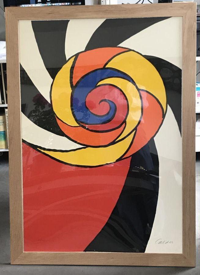 Lithographie Calder - Le turban , 1969