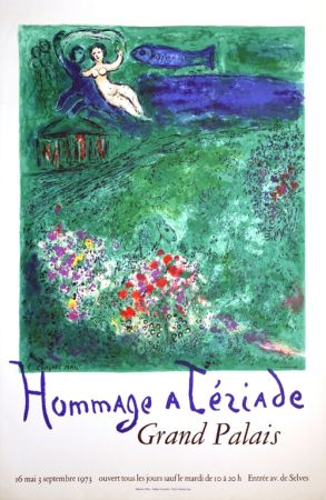 Lithographie Chagall - Le Verger Hommage À Terriade