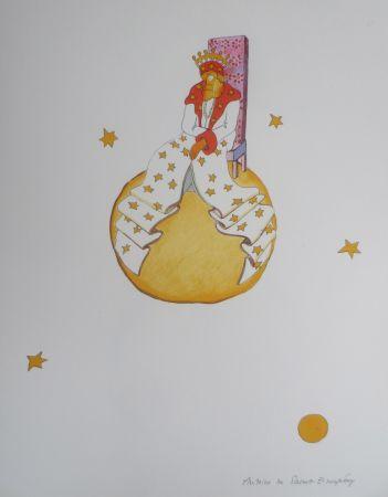 Lithographie Saint-Exupéry - Le vieux roi