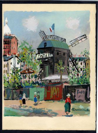 Livre Illustré Utrillo - LE VILLAGE INSPIRÉ. Avec 12 gouaches par Maurice Utrillo (1954).