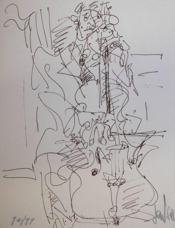 Lithographie Paul  - LE VILONCELLISTE / THE VIOLONCELLIST - Lithographie Originale / Original Lithography