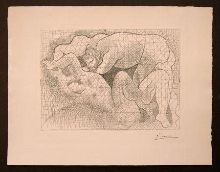 Gravure Picasso - Le Viol (La Suite Vollard)