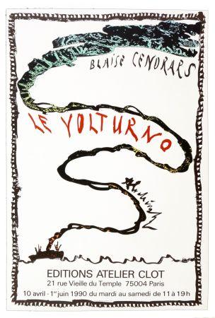 Affiche Alechinsky - Le Volturno, Blaise Cendrars, Pierre Alechinsky, 1990