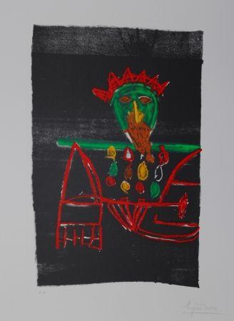 Lithographie Ionesco - Le zar