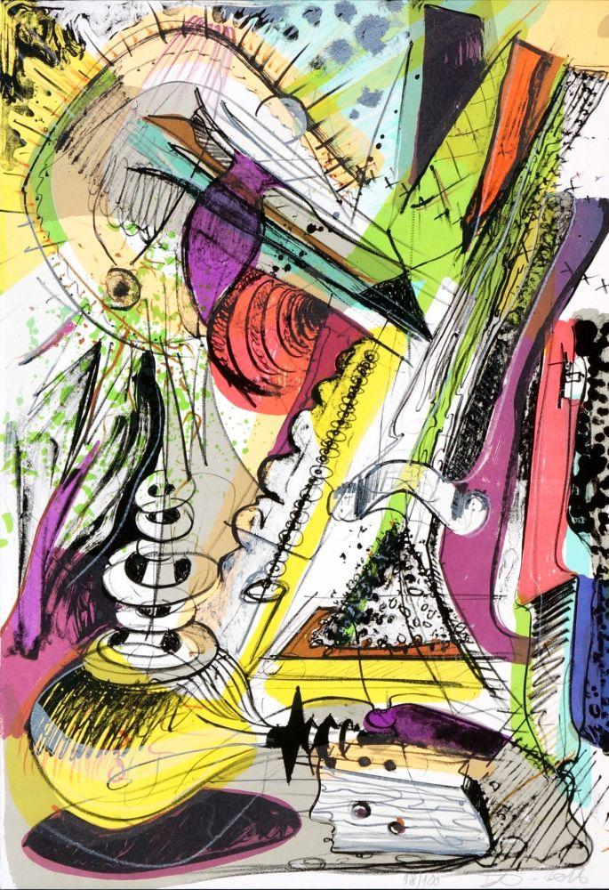 Lithographie Nørgard - Leaving civilization 2