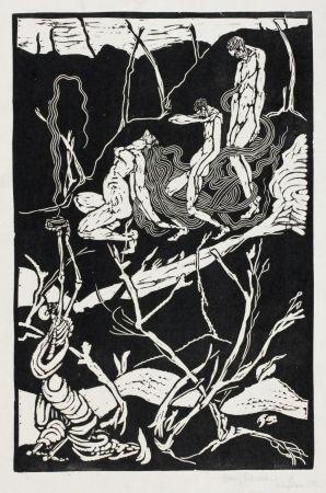 Linogravure Ehmsen - Leben und Tod (Life and Death)