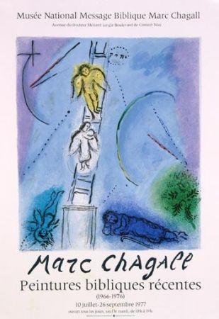 Lithographie Chagall - L'Echelle de Jacob