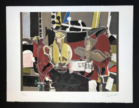 Lithographie Braque - L'echo