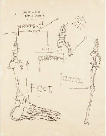 Sérigraphie Basquiat - Leg of a Dog