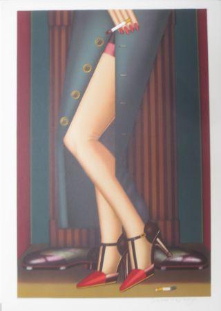 Lithographie Okshteyn - Legs