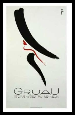 Affiche Gruau - L'ELEGANTE