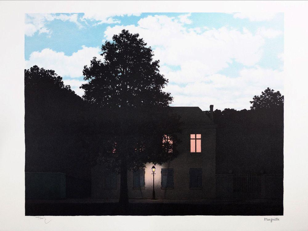 Lithographie Magritte - L'Empire des Lumières