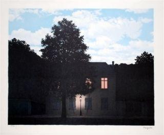 Lithographie Magritte - L'empire des lumières 1961