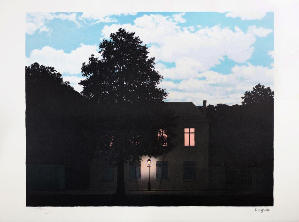 Lithographie Magritte - L'Empire des Lumières (The Empire of Light)