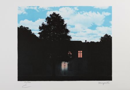 Lithographie Magritte - L'Empire Des Lumières (The Empire Of Light)