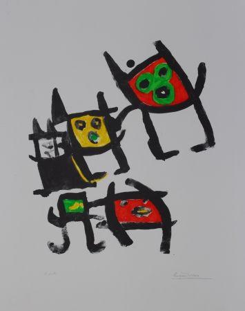 Lithographie Ionesco - L'enfance de lart