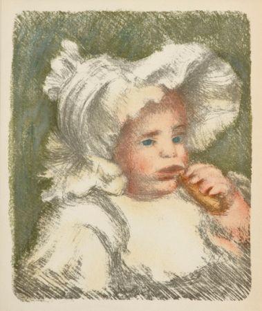 Lithographie Renoir - L'Enfant au Biscuit