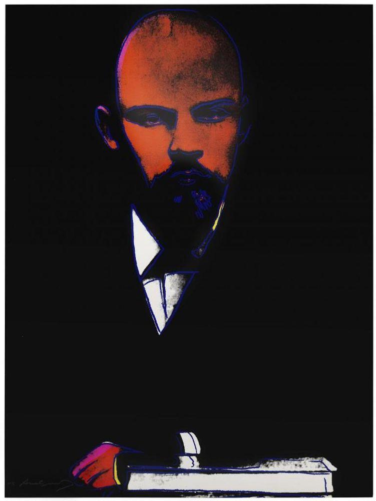 Sérigraphie Warhol -  Lenin (Black) (FS II.402)