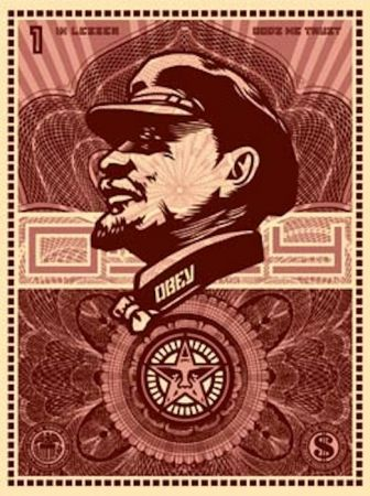 Sérigraphie Fairey - Lenin Money