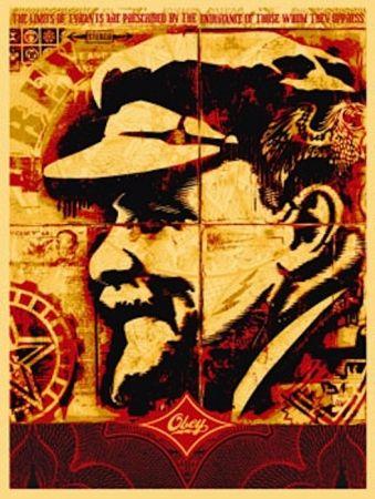 Sérigraphie Fairey - Lenin Record