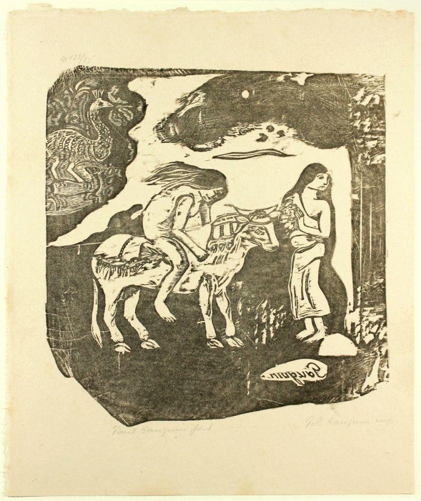 Gravure Sur Bois Gauguin - L'Enlèvement d'Europe